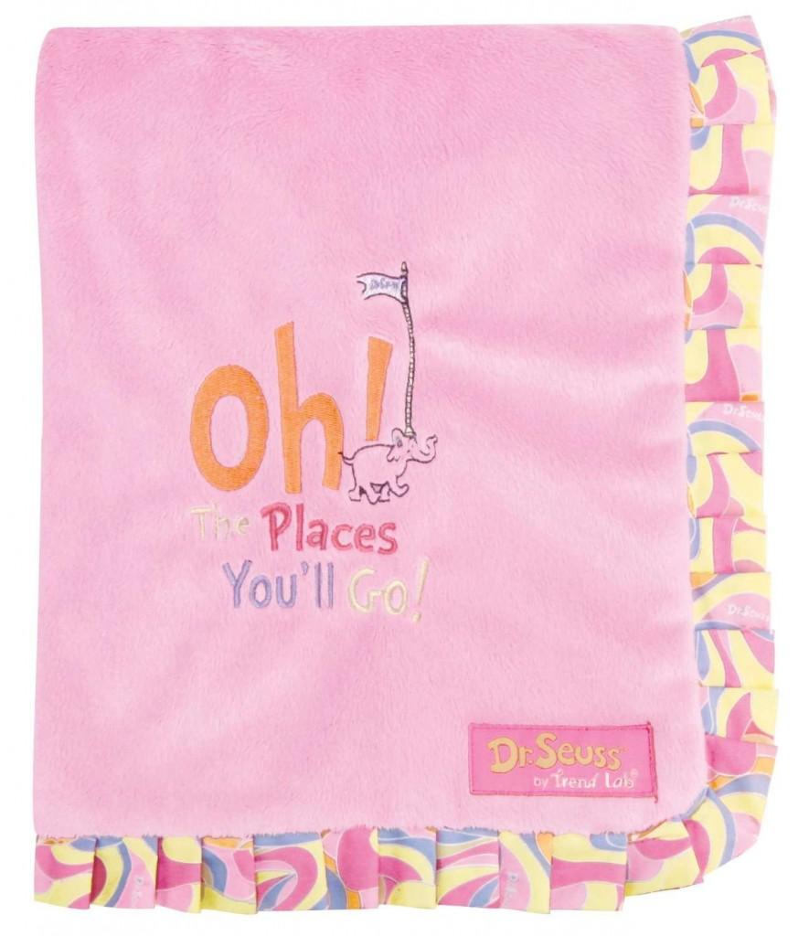 Dr. Seuss receiving blanket
