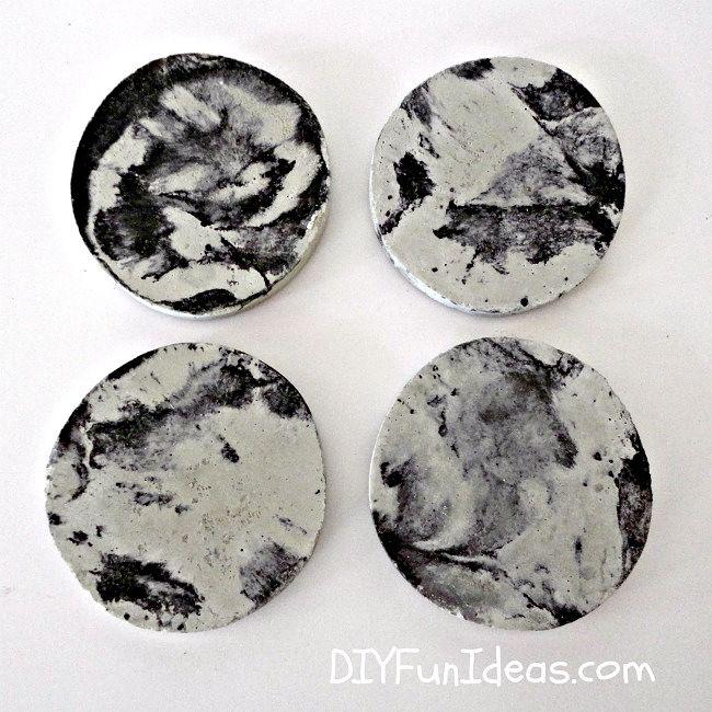 How To Make Tie-Dye Concrete Coasters