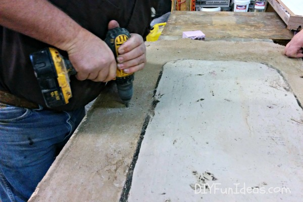 HOW TO MAKE CONCRETE COUNTERTOPS - PART 4 - GROUTING & SEALING