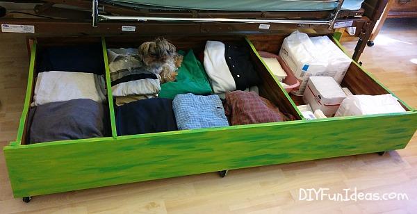 DIY Under The Bed Storage