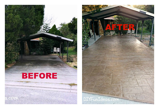 Driveway Before After
