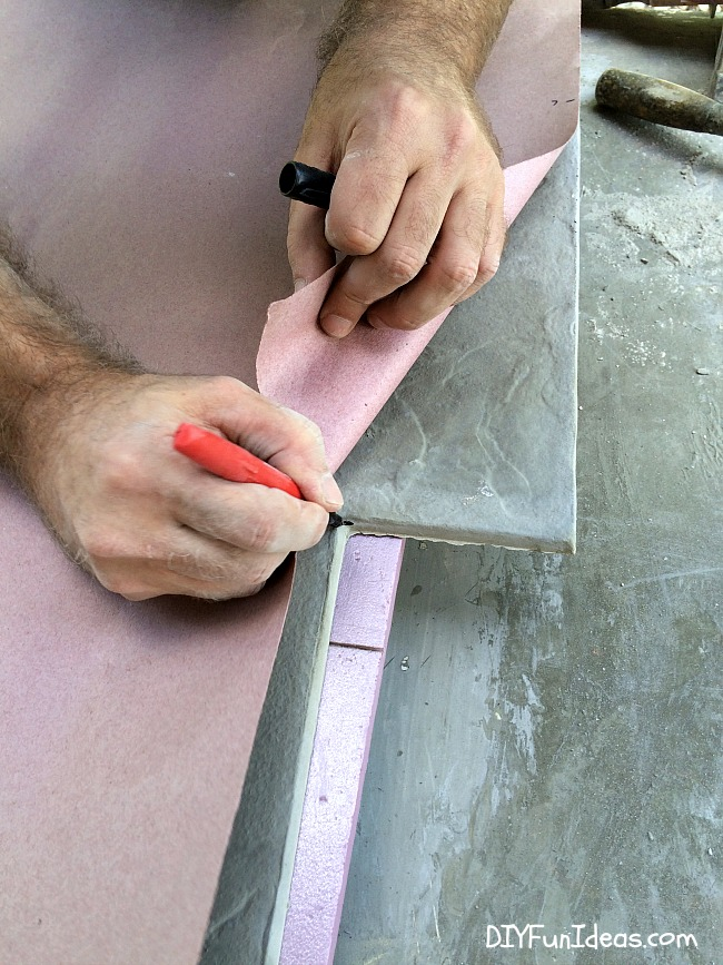 DIY CONCRETE TILED DRIVEWAY TUTORIAL: GET A STAMPED CONCRETE LOOK FOR WAY LESS $$