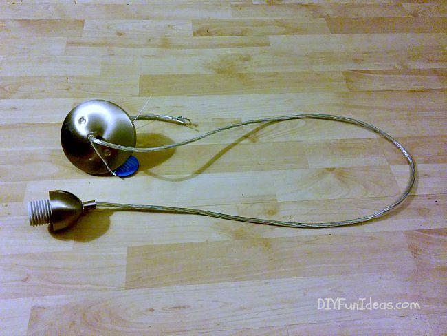 SUPER EASY DIY CONCRETE PENDANT LAMP FROM A 2-LITER BOTTLE