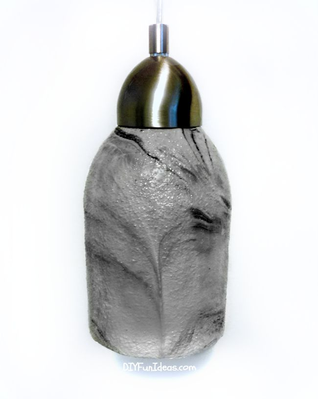 How to make a diy concrete pendant lamp from a 2 liter for Diy concrete lamp