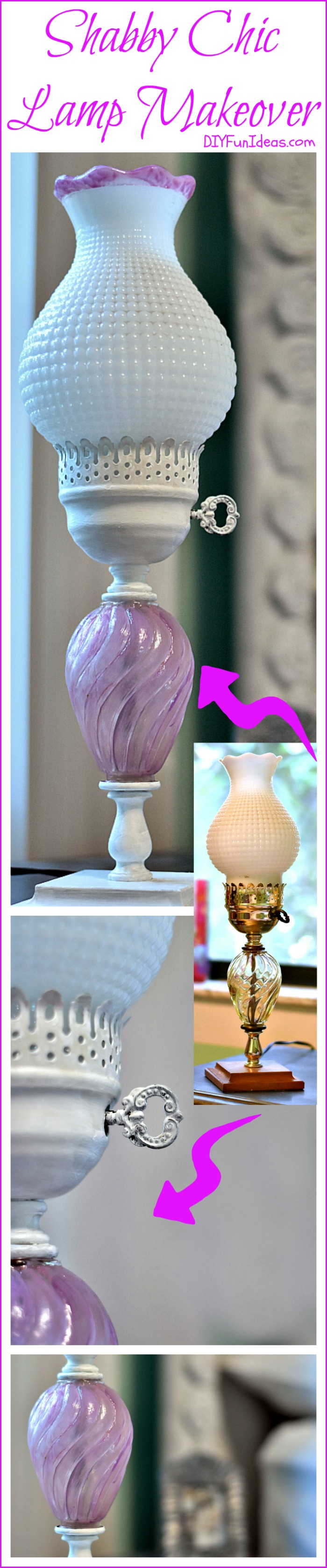 DIY SUPER CUTE SHABBY CHIC LAMP MAKEOVER