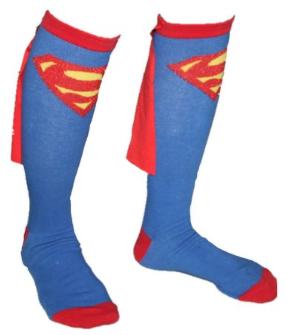 Super Hero Cape Socks