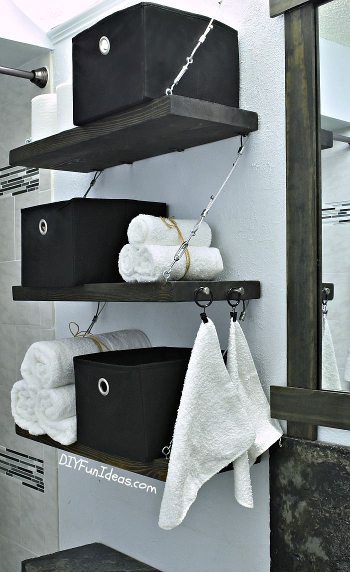 how to make diy steel cable suspension shelves. Black Bedroom Furniture Sets. Home Design Ideas