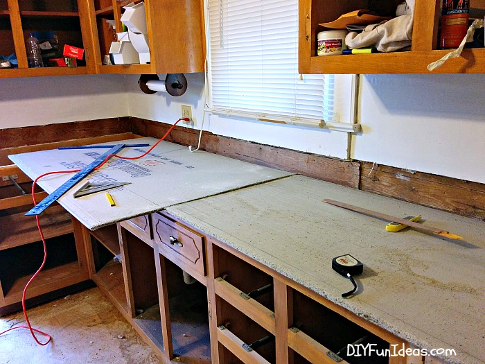 How To Make Diy Cast In Place White Concrete Countertops