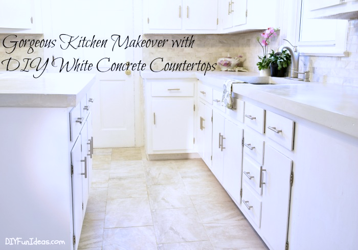 A Must See Drop Dead Gorgeous Diy Kitchen Makeover With White Concrete Countertops